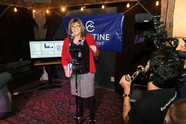Christine Hallquist kan de eerste transgender gouverneur worden van Amerika (foto: Reuters)