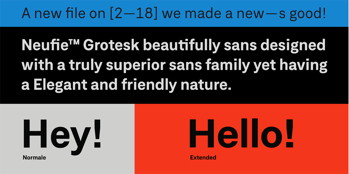 All styles of Neufile Grotesk are 85% off until November 5
