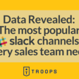 Data Revealed: The Most Popular Slack Channels Every Sales Team Needs