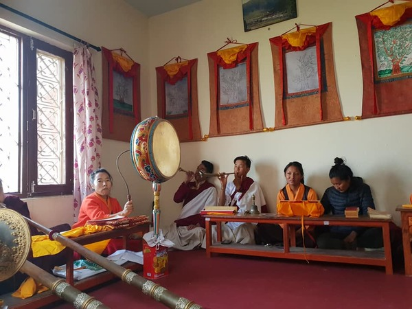 Trinley Nyingpo Puja at Sowa Rigpa Medical & Research Center in Boudhanath