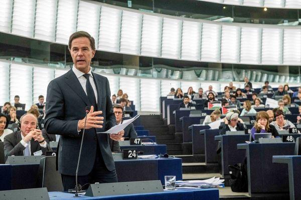 Premier Rutte in het Europees Parlement