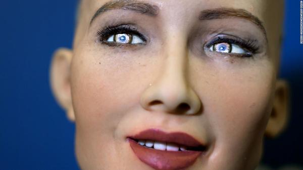 How Sophia the robot copies human facial expressions - CNN Style
