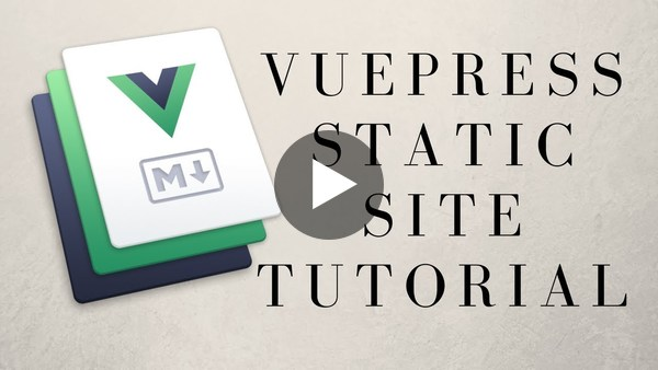 VuePress A Vue.js Static Site Generator First Look! - YouTube