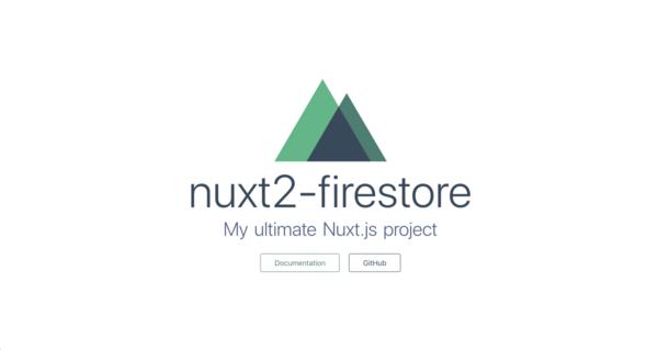 Nuxt.js (v2), Firestore & SSR