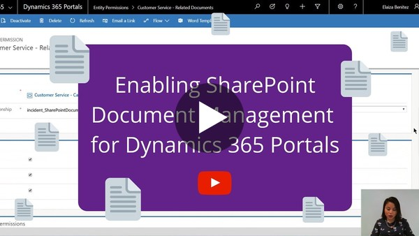 Enabling SharePoint Document Management for Dynamics 365 for Portals - YouTube