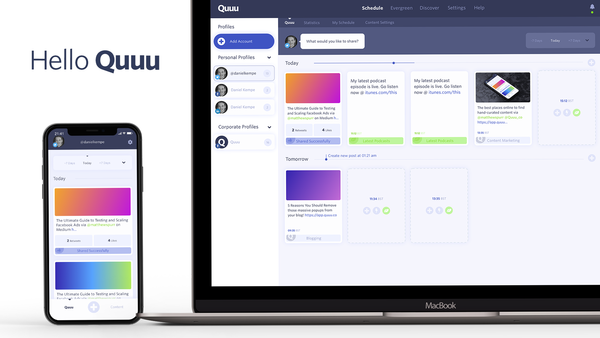 Have you noticed anything different about us? Quuu has a shiny new design and plenty more features on the way, including a mobile app. We'd love to hear what you think!