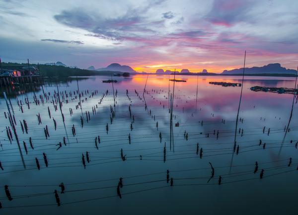 Het water in zuidelijk Thailand is veel schoner.