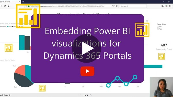 Embedding Power BI reports or dashboards in Dynamics 365 for Portals - YouTube