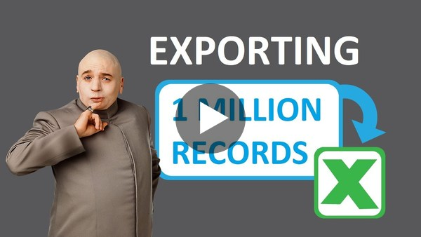 "Two-Minute Tuesday - Episode 43: ""Export 1 Million records to Excel"" - YouTube"