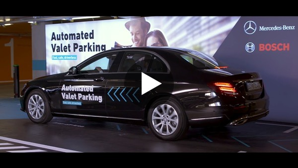 Bosch and Daimler Automated Valet Parking Demo - YouTube
