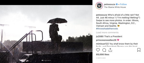 Pete Souza was Obama's White House photographer.
