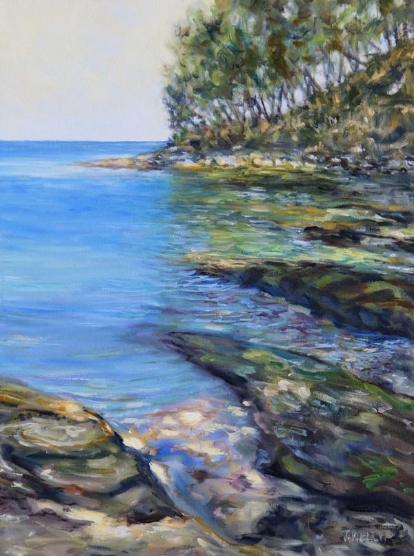 """""""A Small Emerald Bay Mayne Island B.C."""" by Terrill Welch"""
