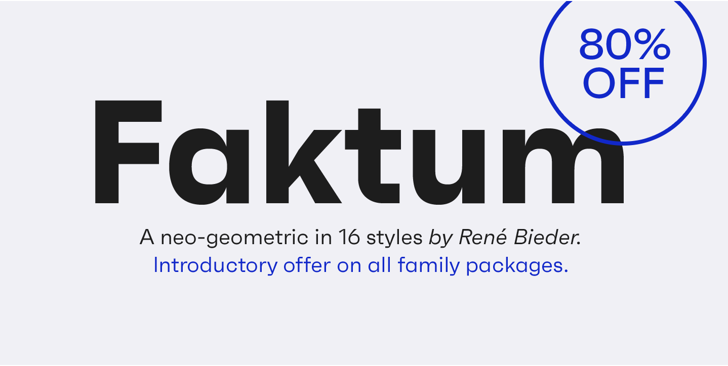 The complete family pack of Faktum is 80% off for a limited time