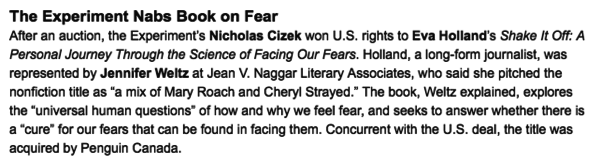 "Here's my very fancy-sounding announcement, a Publishers Weekly ""deal of the week."""