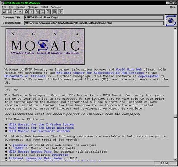 25 yıl önce günümüz tarayıcılarının atası Mosaic 1.0 lanse edildi...