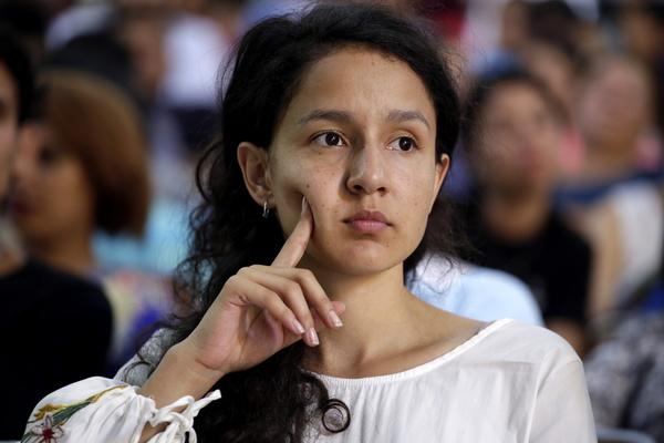 Berta Zúniga Cáceres, COPINH coordinator and daughter of Berta Cáceres. Photo by Martín Cálix for ContraCorriente.