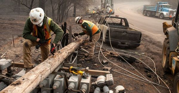 Californians lose everything in fire, while PG&E utility company gets bailed out.