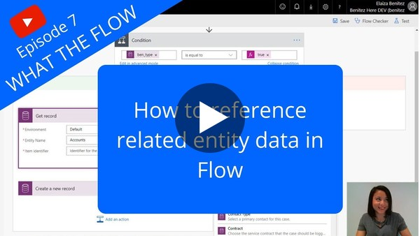 How to reference related entity data in Flow - YouTube