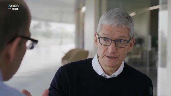 "Apple CEO Tim Cook calls new regulations ""inevitable"" -Axios"