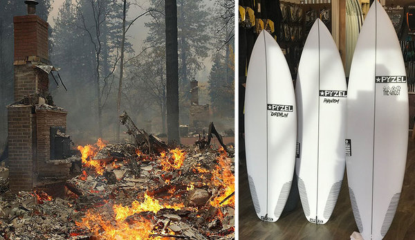 Pzyel Is Raffling Off Surfboards to Help Victims of the California Wildfires | The Inertia