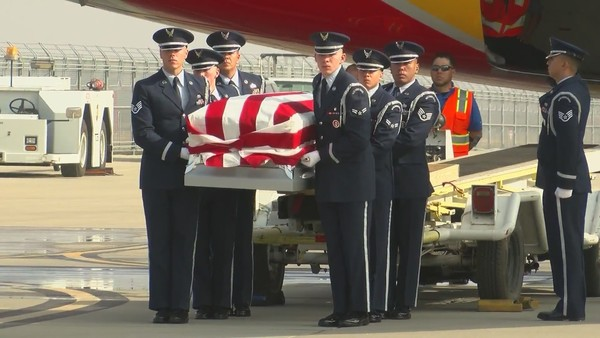 Hundreds say goodbye to 'patriot' air national guardsman at emotional ceremony