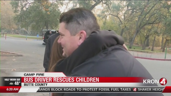 'Bus driver from heaven' rescued children from 'Camp Fire'