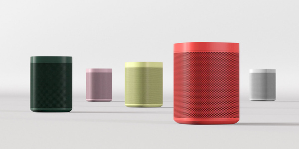 Image of the limited edition HAY Sonos One speakers
