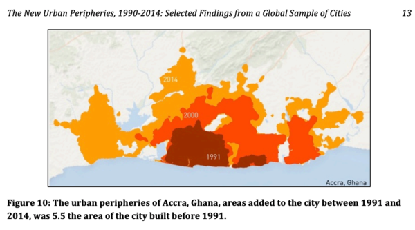 Source: The New Urban Peripheries, 1990-2014: Selected Findings from a Global Sample of Cities. Shlomo Angel, June 2018.