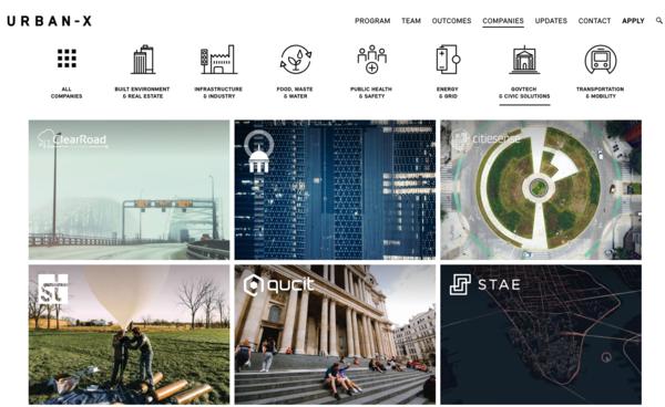 Urban-x accelerator startups