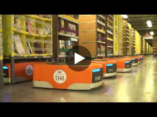 Amazon Warehouse Order Picking Robots
