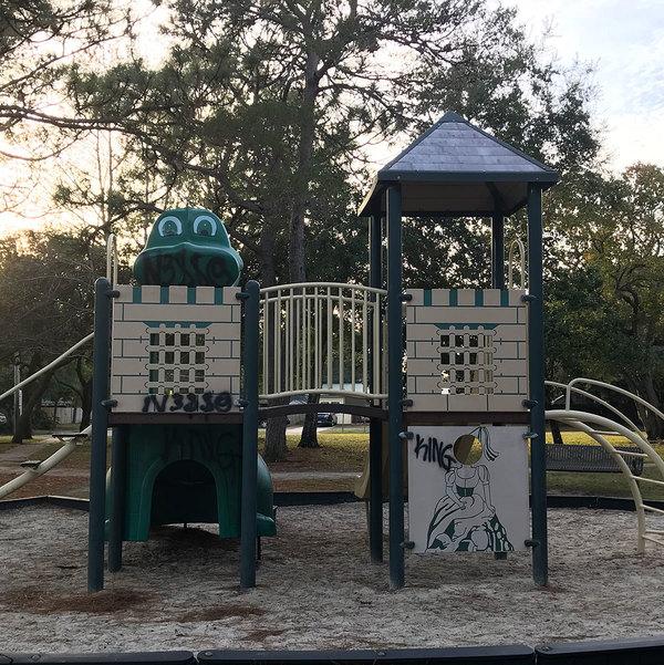 Vesta Heights playground tagged