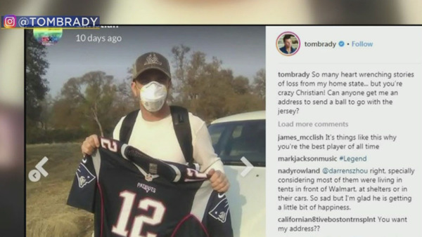 Tom Brady Reaches Out To Patriots Fan Who Saved Jersey While EvacuatingWildfire