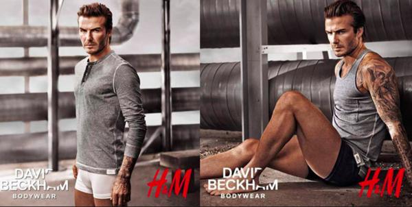 David Beckham als celebrity met z'n eigen ondergoedlijn voor H&M