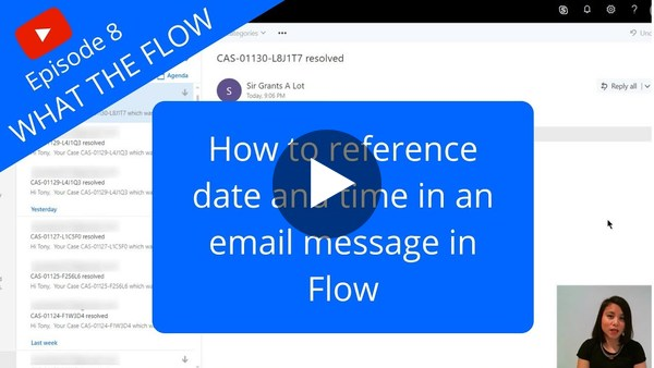 How to insert a date field value in an email in Flow