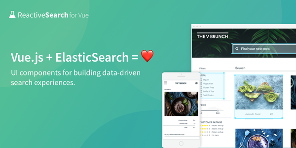 Vue.JS Components for building Search UIs – All things