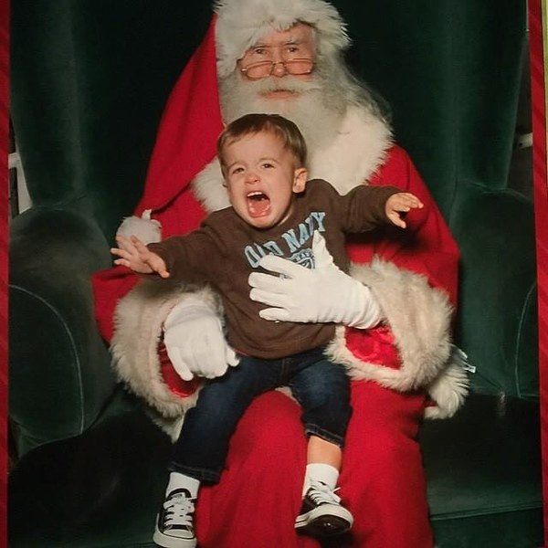 My son losing it! Santa needs a drink 🍻