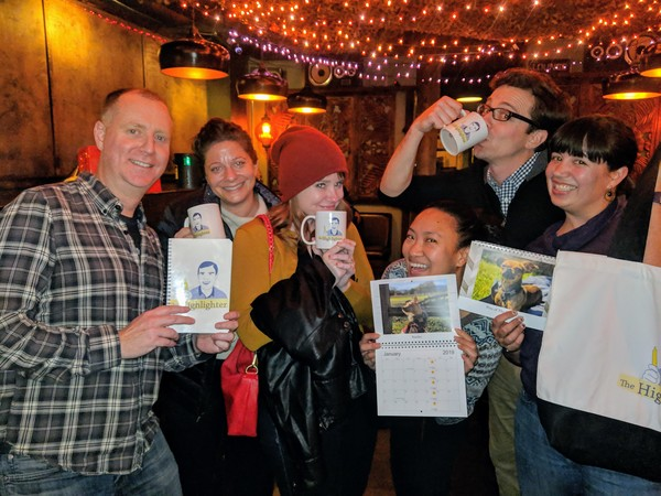 HHH #8 was a big success: 30 loyal readers gathered at Room 389 in Oakland to chat about the articles. Here are Jason, Laura, Clare, Denise, Joel, and Erin proudly showing off their Highlighter merchandise. HHH #9 will be March 7. Mark your calendars!
