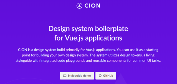 CION: Design system boilerplate for Vue.js
