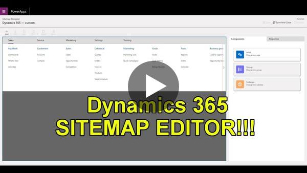 Dynamics 365 2MT Episode 47: Modify your Sitemap easily with the Sitemap Editor