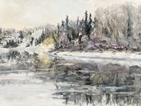 Winter Freeze Up Stuart River B.C. by Terrill Welch