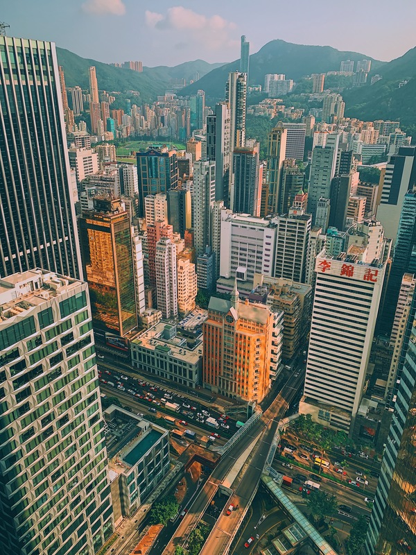 An iPhone XS Max shot of Hong Kong's Wan Chai district from up high.