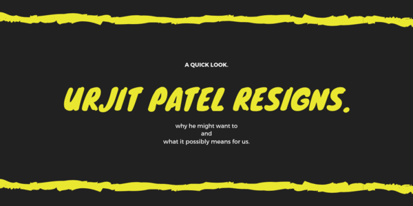 The Implications of RBI Governor Urjit Patel's Sudden Resignation