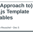 (An Approach to) Vue.js Template Variables