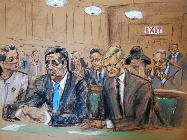 Michael Cohen bij de rechter in New York (foto: Reuters)