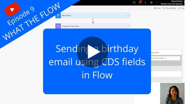 Sending a birthday email from CDS fields
