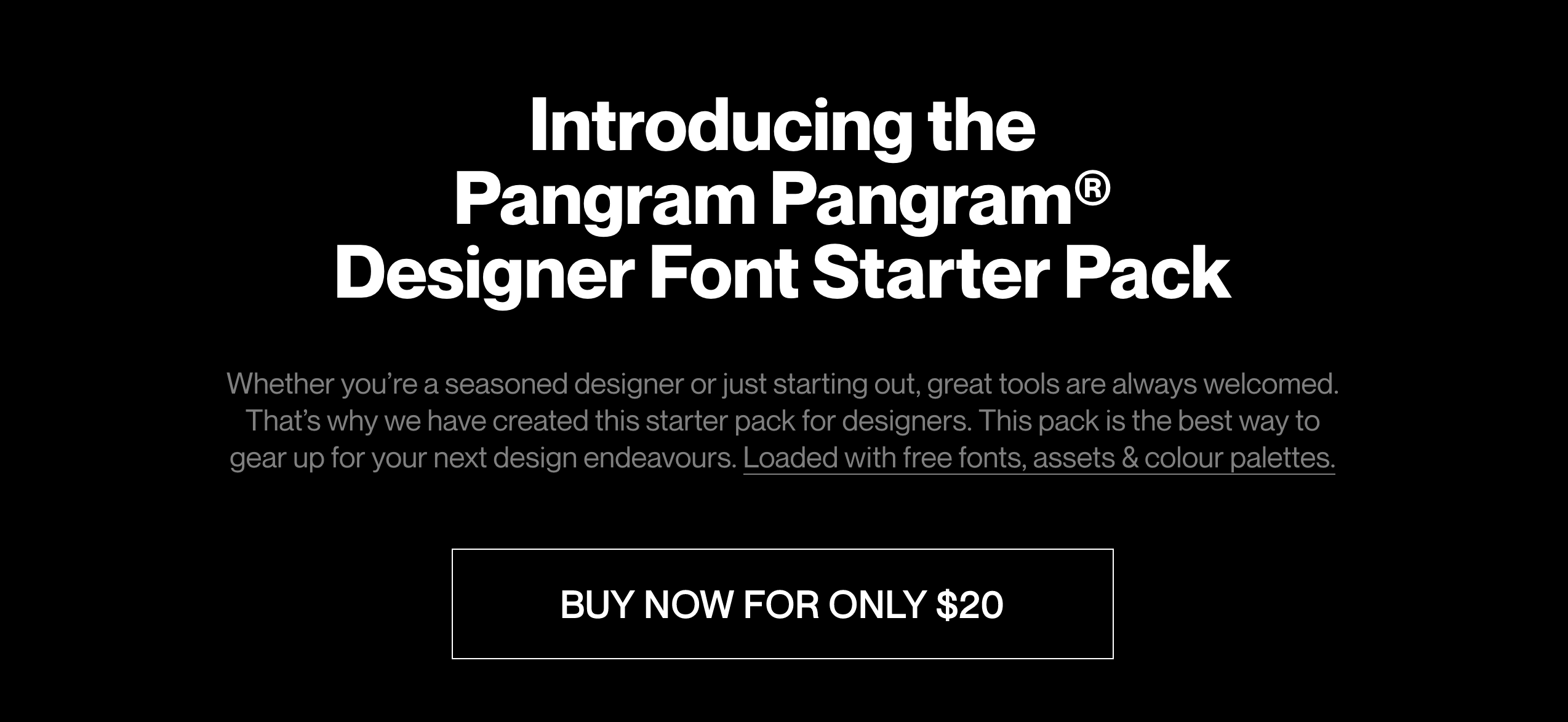 The new Pangram Pangram starter pack includes 16 families for only $20.