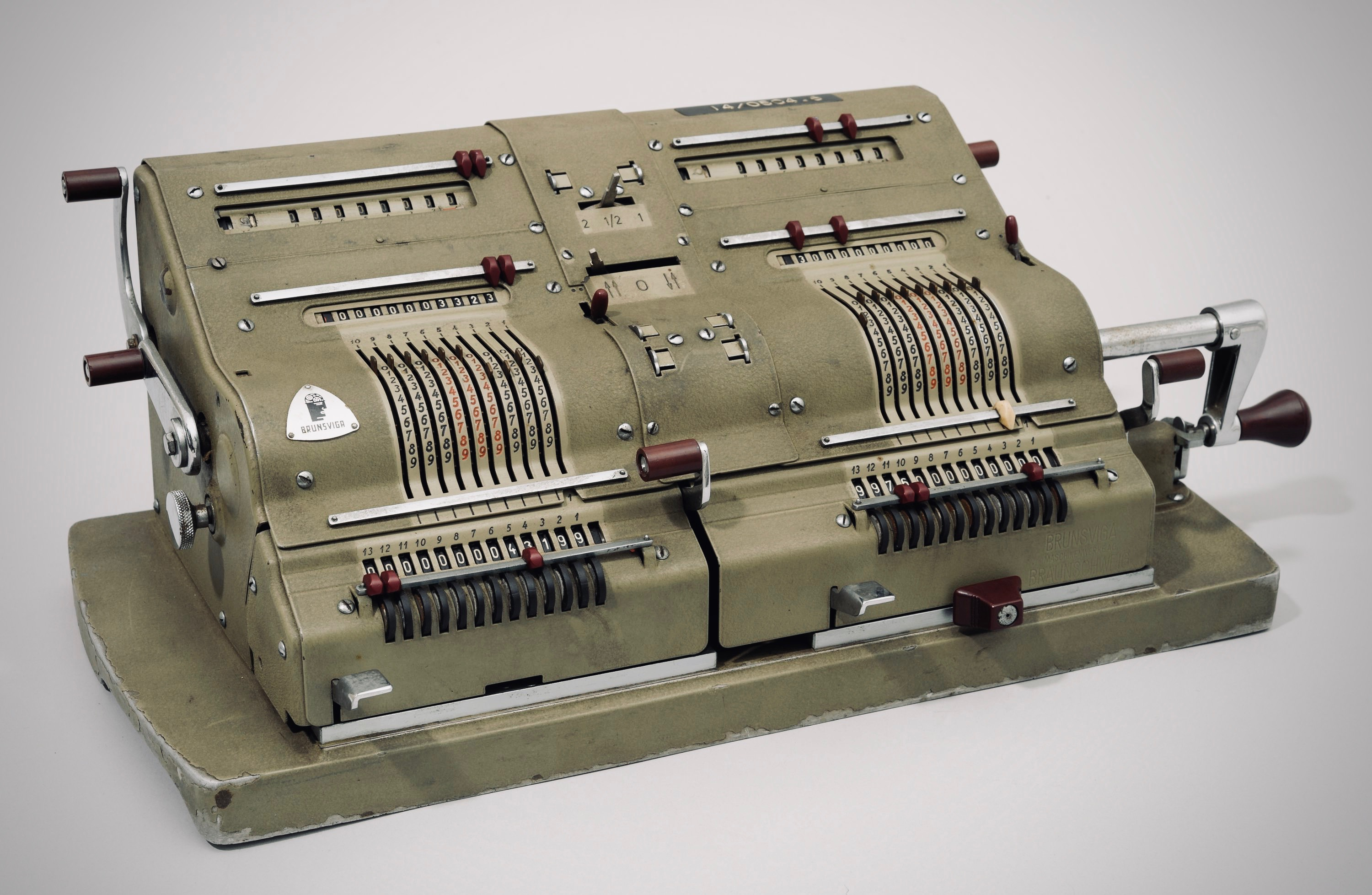 Brunsviga double calculator from the 1950s
