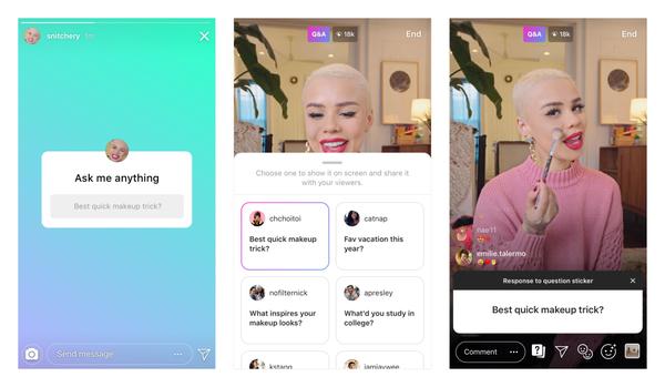 Instagram : répondez aux questions en musique et posez vos questions dans les vidéos en live