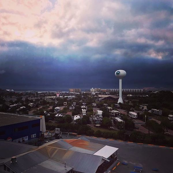 Yesterday's storm from Okaloosa Island