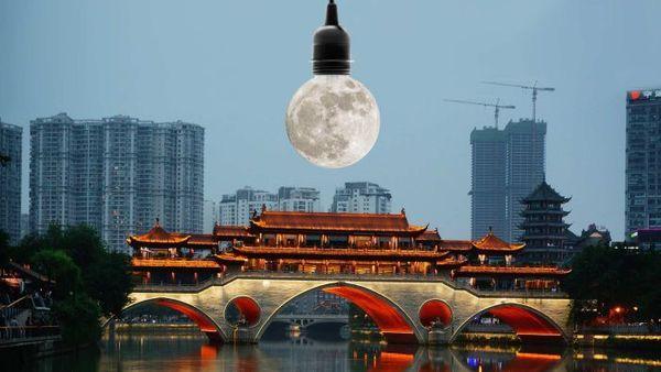 China will künstliche Monde ins All schießen, um Straßenbeleuchtung zu sparen